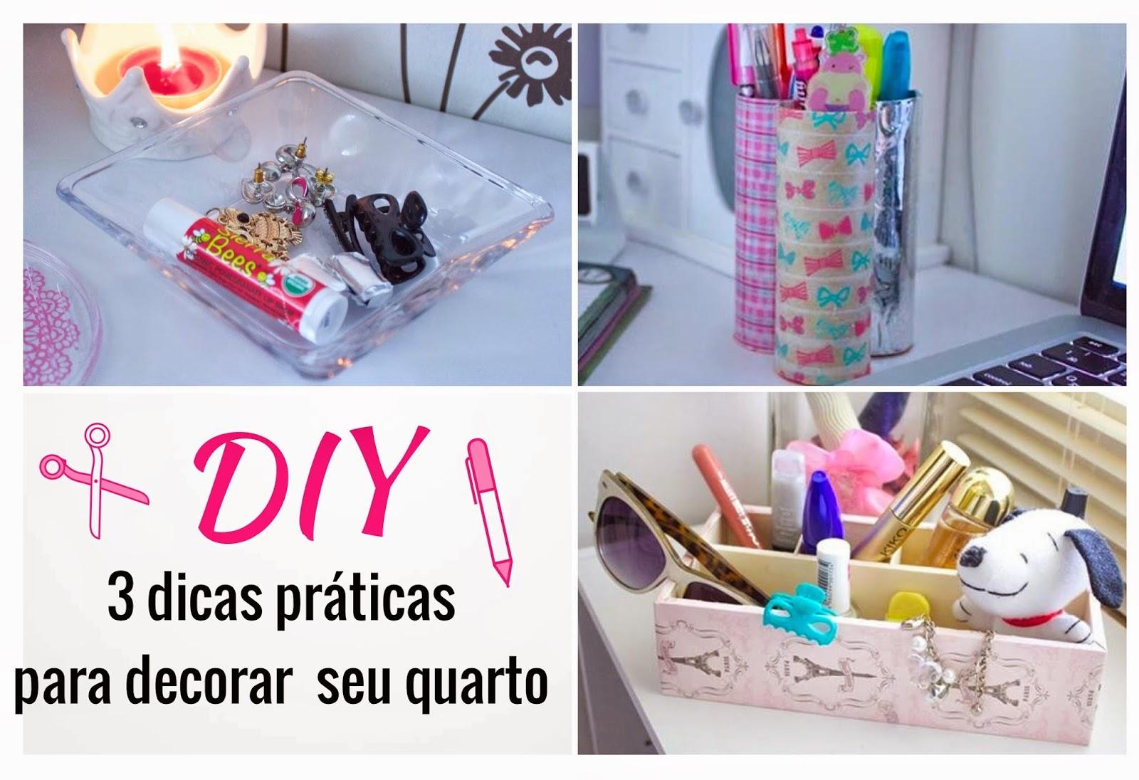 DIY 3 dicas práticas e barata para decorar seu quarto  ~ Quarto Pequeno O Que Fazer